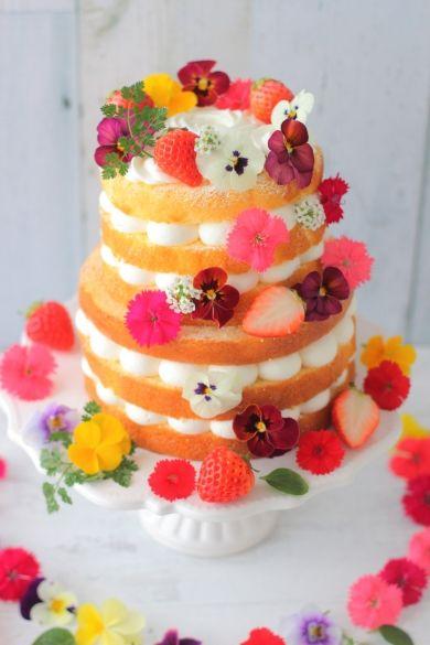 「フラワーネイキッドケーキ」あいりおー   お菓子・パンのレシピや作り方【corecle*コレクル】