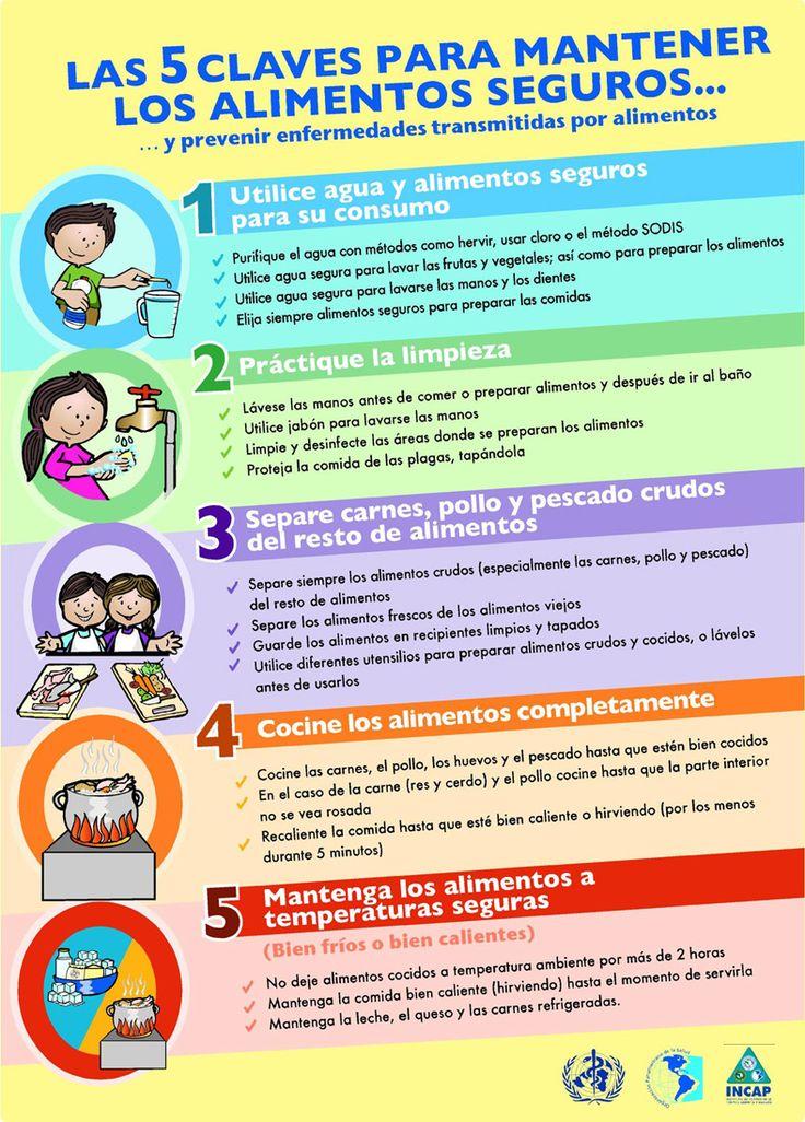 Las 5 claves para mantener los alimentos seguros