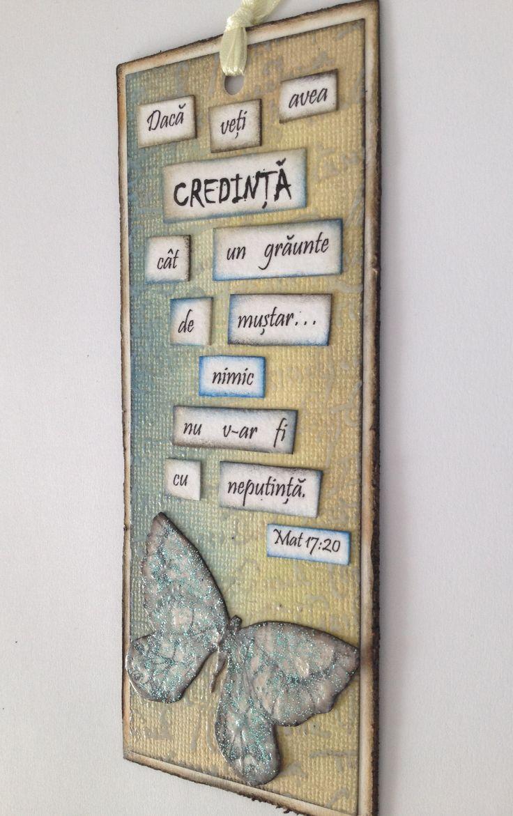 "Semn de carte ""Credinta"""