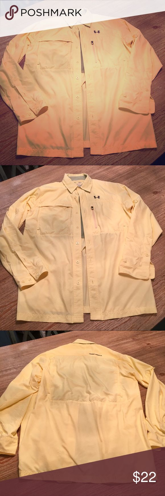 UNDER ARMOUR men's fishing shirt size S LIKE NEW!! •UNDER ARMOUR fishing shirt, size Small •Excellent condition---only worn once!!! •from a smoke free/pet free home Under Armour Shirts Tees - Long Sleeve