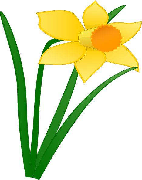 Daffodil Flower Clip Art   Daffodil 1 Clip Art at Clker.com - vector clip art…