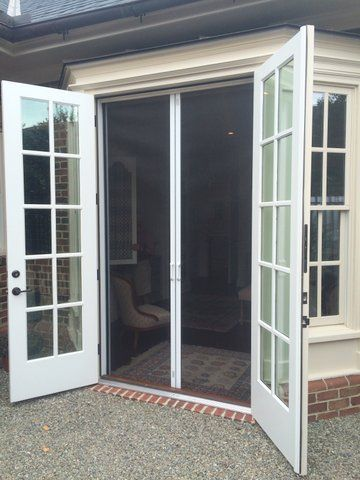We are seeing more and more homes that feature out for French door sliding screen