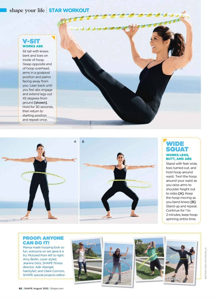 working out with your hoop :) a fun way to get in shape