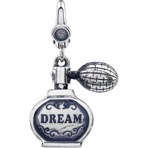 Sterling Silver DREAM Perfume Bottle Charm Pendant. $39.99  #Charms