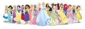 dibujo de todas las princesas disney