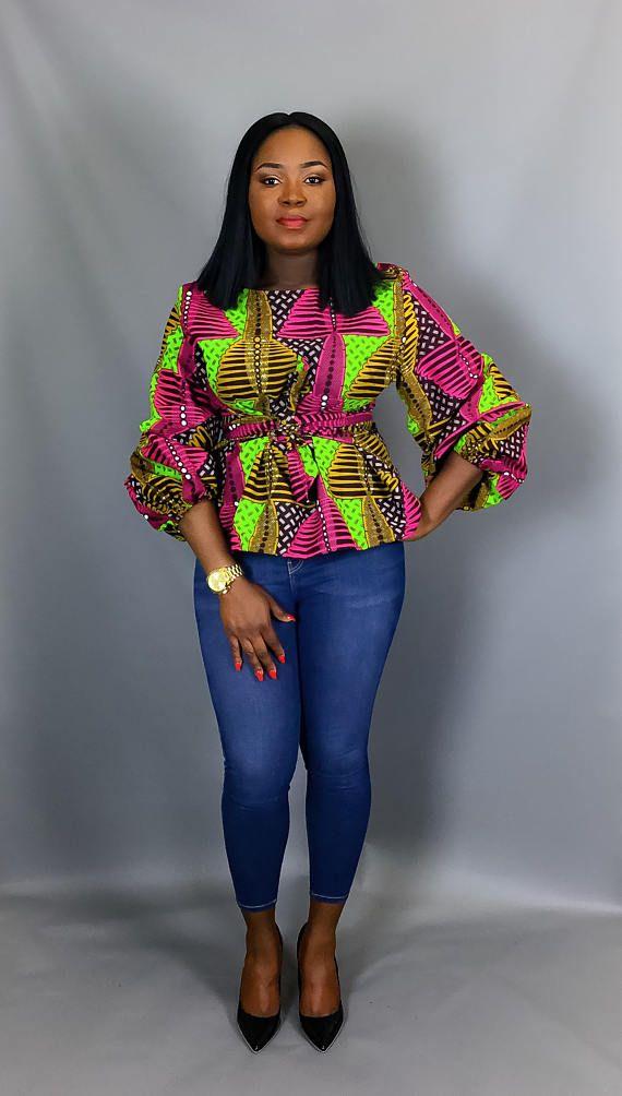 African print topAfrican clothingAfrican wax printAfrican