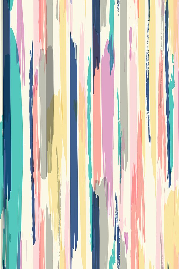 Brush Stroke Stripe by Crystal Walen. Painted brushstroke stripes in pastels. Beautiful abstract pastel design on fabric, wallpaper, and gift wrap.