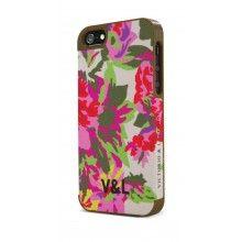 Carcasa iPhone 5 Victorio y Lucchino - Flores tela tacto goma  Bs.F. 134,48