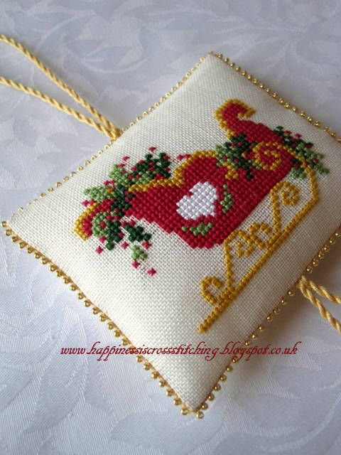 Christmas sleigh cross stitch More