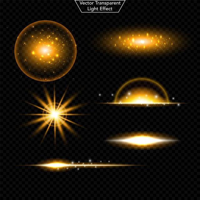 Set Of Glowing Light Effect Light Effect Light Magic Light