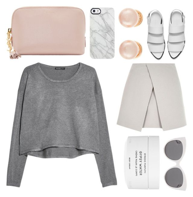"""""""for you"""" by grey-eyes ❤ liked on Polyvore featuring Yves Saint Laurent, Uncommon, Kenneth Jay Lane, MANGO, River Island, Alexander Wang, Byredo and Blanc & Eclare"""