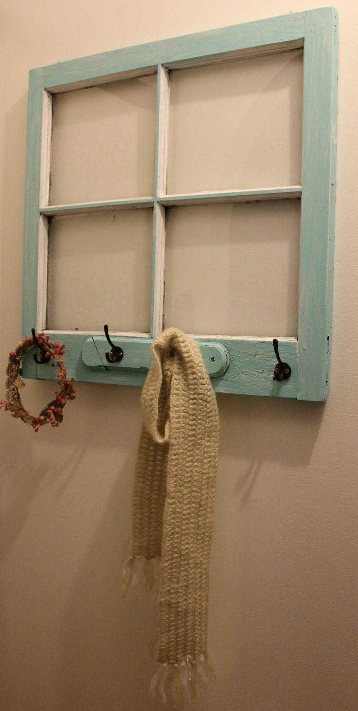 coat rack window frame