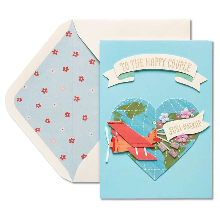 Papyrus Just Married Wedding Congratulations Card,
