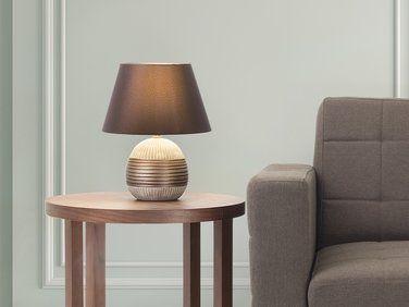 Lampe A Poser Lampe De Salon De Chevet De Bureau Bronze Sado