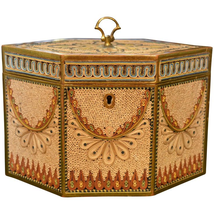 Late 18th Century Rolled Paper Tea Caddy | From a unique collection of antique and modern boxes at https://www.1stdibs.com/furniture/decorative-objects/boxes/