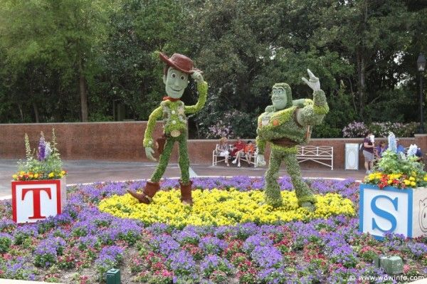 EPCOT World Showcase Pavilion Exhibits from 2012 International Flower & Garden Festival