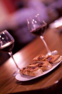 Foie con cebolla caramelizada y #vino tinto