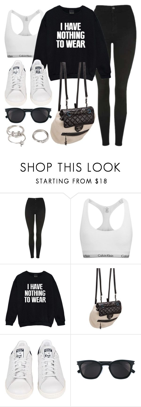 """""""Style #11425"""" by vany-alvarado ❤ liked on Polyvore featuring Topshop, Calvin Klein, Chanel, adidas, Yves Saint Laurent and Forever 21"""
