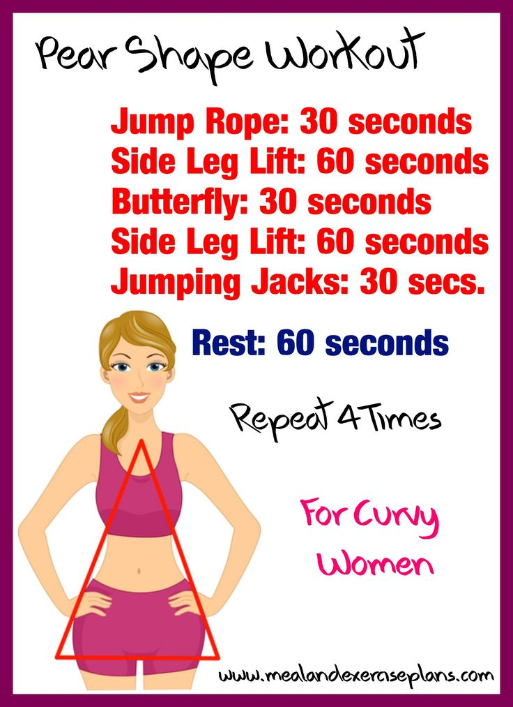 Pear-Shaped Body Workout Women Use these calorie burning ...
