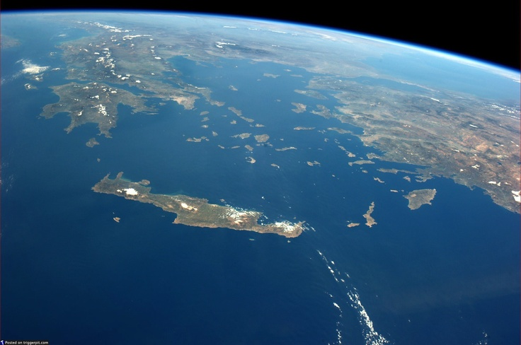 Crete, Greece, and Turkey from the Space Station