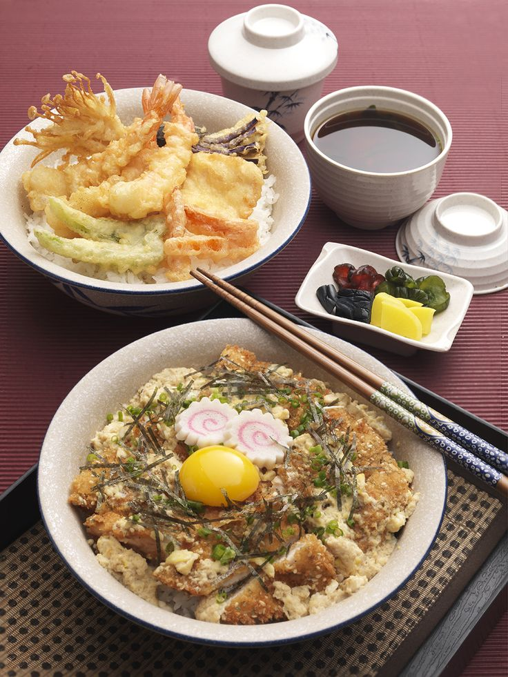 DONBURI - It's a battle between the Donburi! Served in an oversized bowl, the Donburi is a combination of fluffy Japanese Nishiki rice with flavorsome toppings. Choose from assorted tempura or deep fried, accompanied with pickles and soup.
