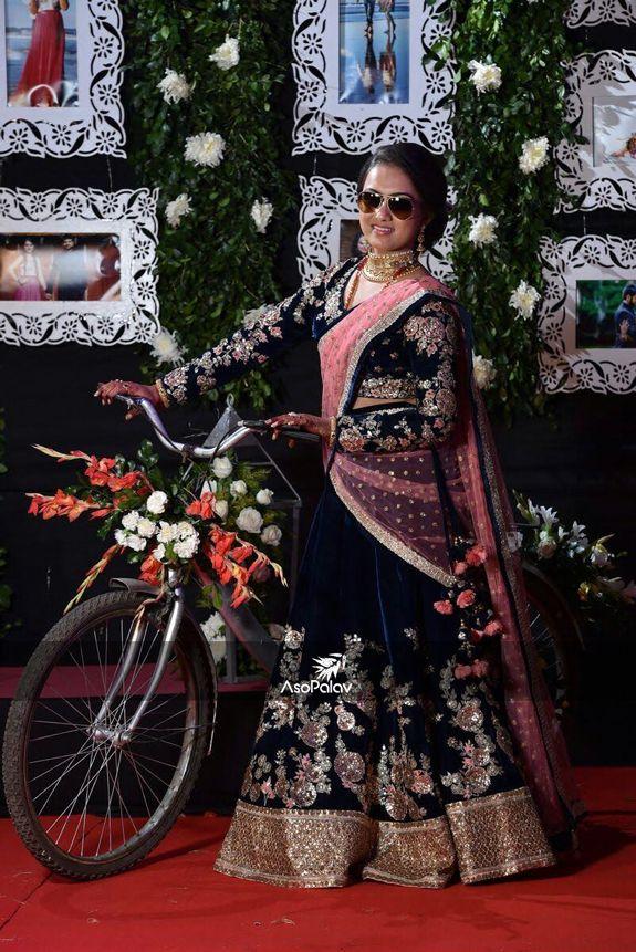 Thank you for sharing your amazing pictures! #AsopalavBrides #HappyClients #Asopalav #Ahmedabad #ClientDiaries #Happiness #BridalWear #EthnicWear #BeSpoke #BridalLehengas #DesignerCollection #Granduer #Royal #elegance #ElegantBridalWear #Indianweddings #Indianfashion #BigFatIndianWeddings #BridalElegance #NewGenerationBrides #IndianEthnicWear #bridalboutique #bridalinspiration #NRIBrides
