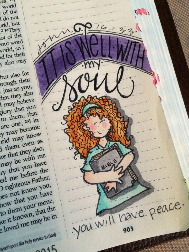 Bible journaling by Nola John 16 33