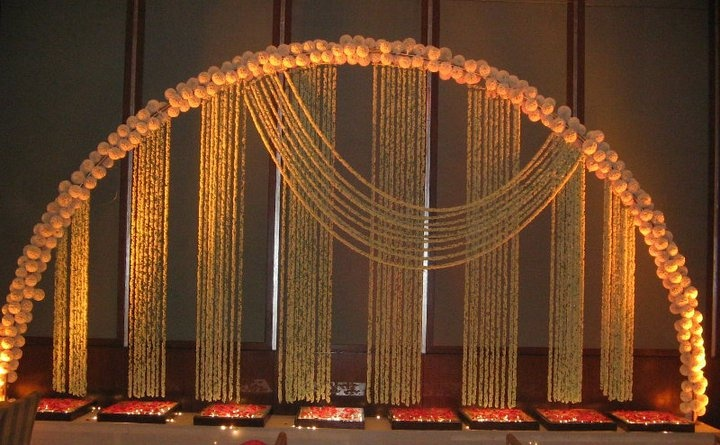 Mogra (Jasmine) Decor for a mehendi function !!