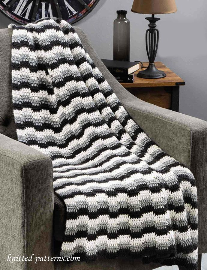 Easy Zig Zag Knitting Pattern : Best images about chevron zig zag crochet on pinterest