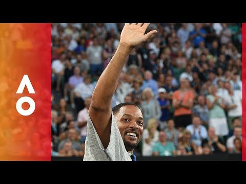 Will Smith gets rousing Rod Laver Arena reception | Australian Open 2018 - YouTube