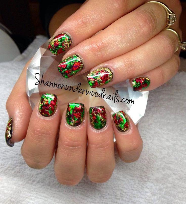 151 best images about transfer foil nail art nails by nded on pinterest nail art nail art - Foil nail art ...