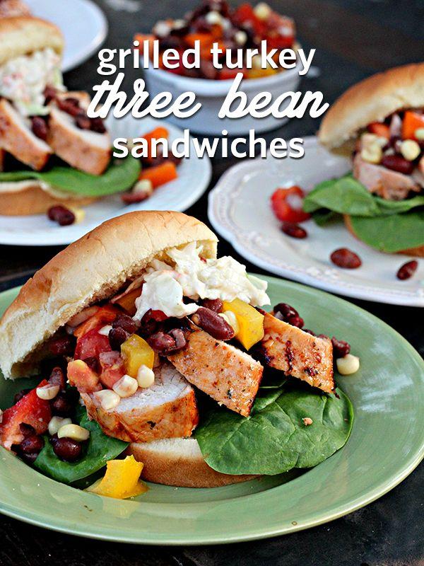 Three Bean Salad Turkey Burgers | Honeysuckle Turkey - Wanna Bite