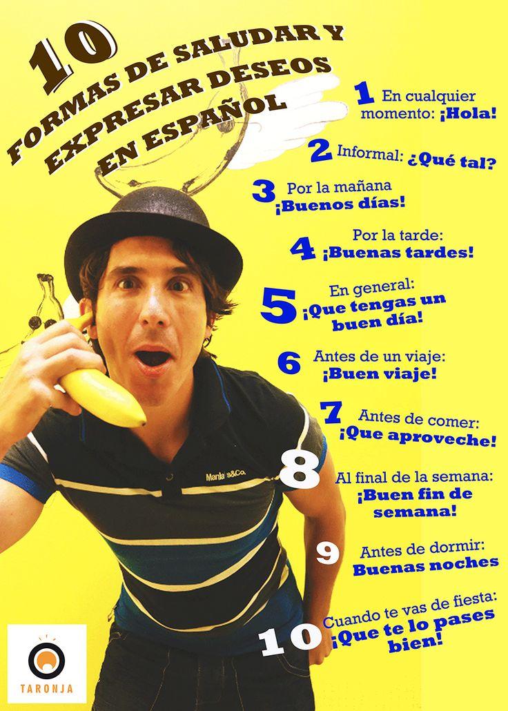 #Infographic 10 maneras de saludar y expresar deseos #Spanish