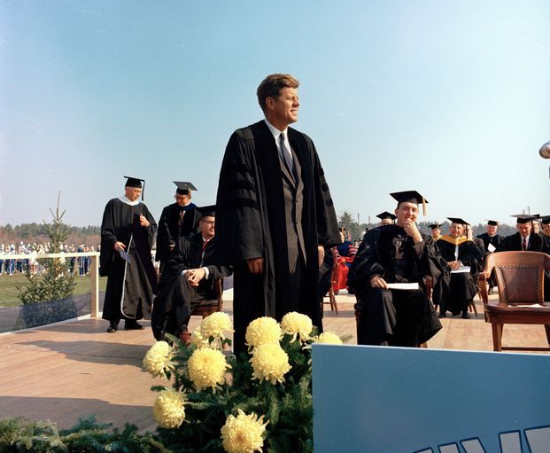 Speaking at the University of Maine in 1963.  Remembering JFK...50 years.   The year I graduated ......
