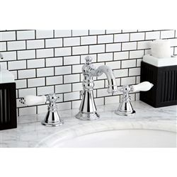 A Classic American Style, This Bathroom Faucet Has A Stylish High Rise  Spout. Designed