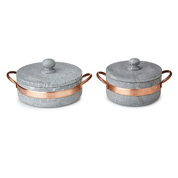 Look what I found at UncommonGoods: Soapstone Pot with Copper Handle for $NaN #uncommongoods