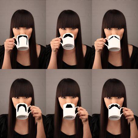 Mustache mugs: Crafts Ideas, Moustache, Coff Mugs, Gifts Ideas, Mugs Design, Coff Cups, Mustache, Coffee Mugs, Christmas Gifts