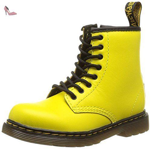 Dr. Martens BROOKLEE Softy T, Bottes mixte enfant - Jaune - Gelb (Wild Yellow), 23 EU - Chaussures dr martens (*Partner-Link)
