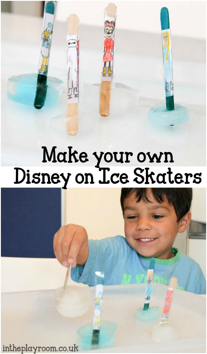 Make your own disney on ice skaters craft, with real ice. Fun to make and play with