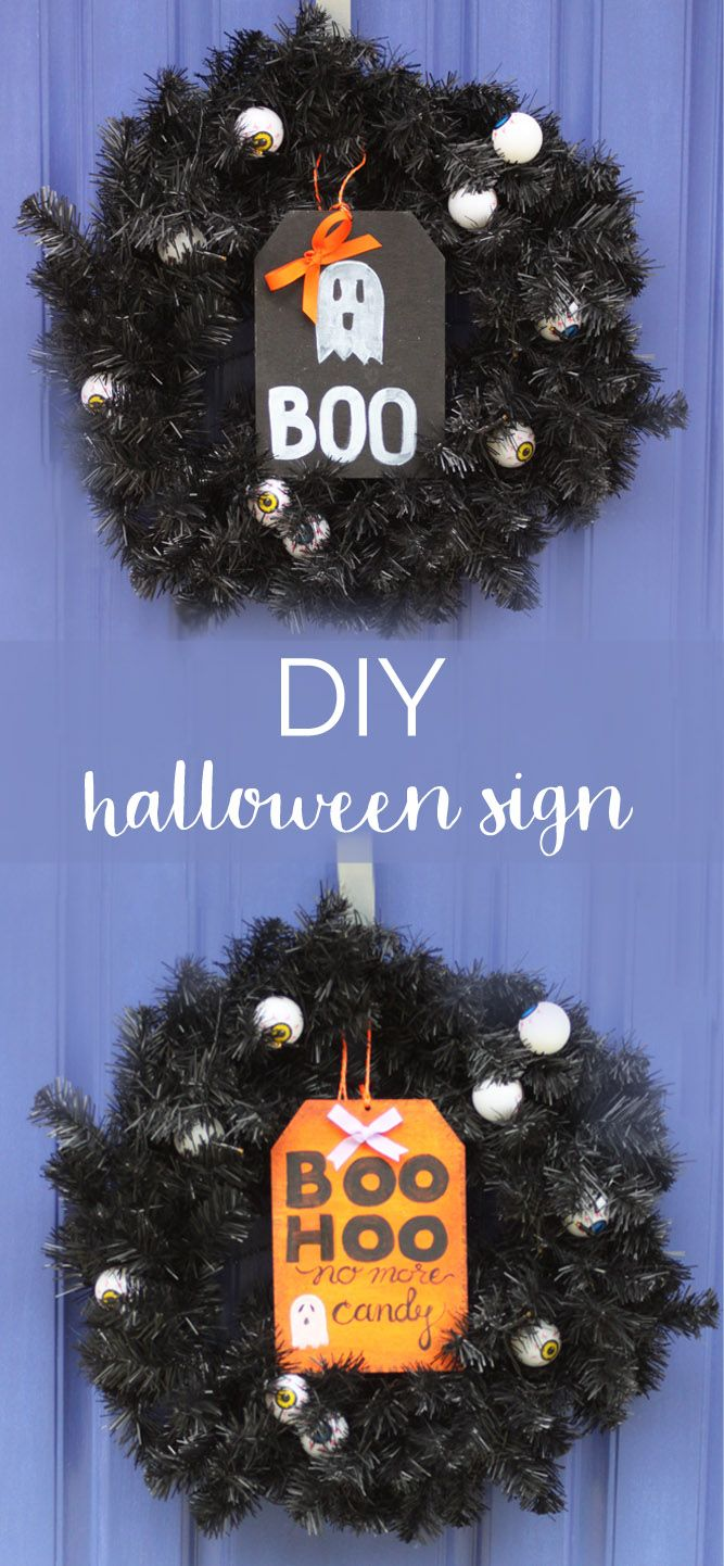 cute diy halloween door sign - Where Did The Holiday Halloween Come From
