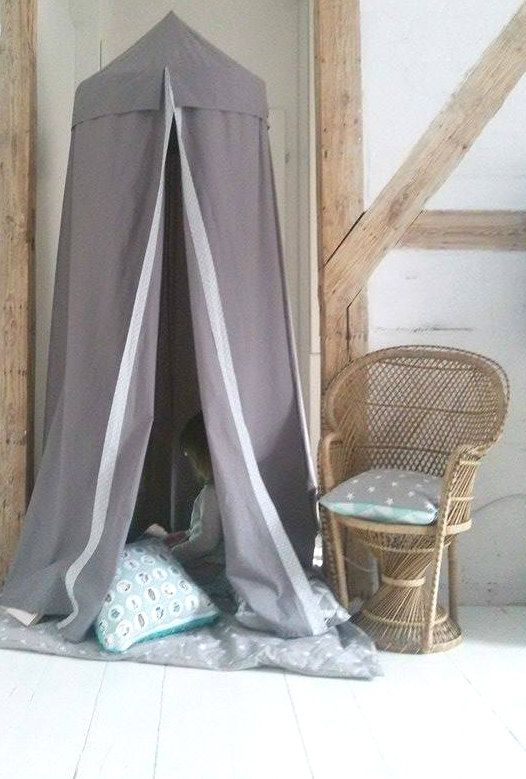 Gray BED canopy / baldachin / playtent by TeepeeLittleNOMAD on Etsy
