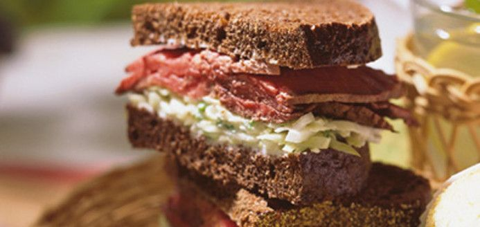 Roast Beef Sandwiches with Coleslaw and Horseradish Recipes | Ricardo
