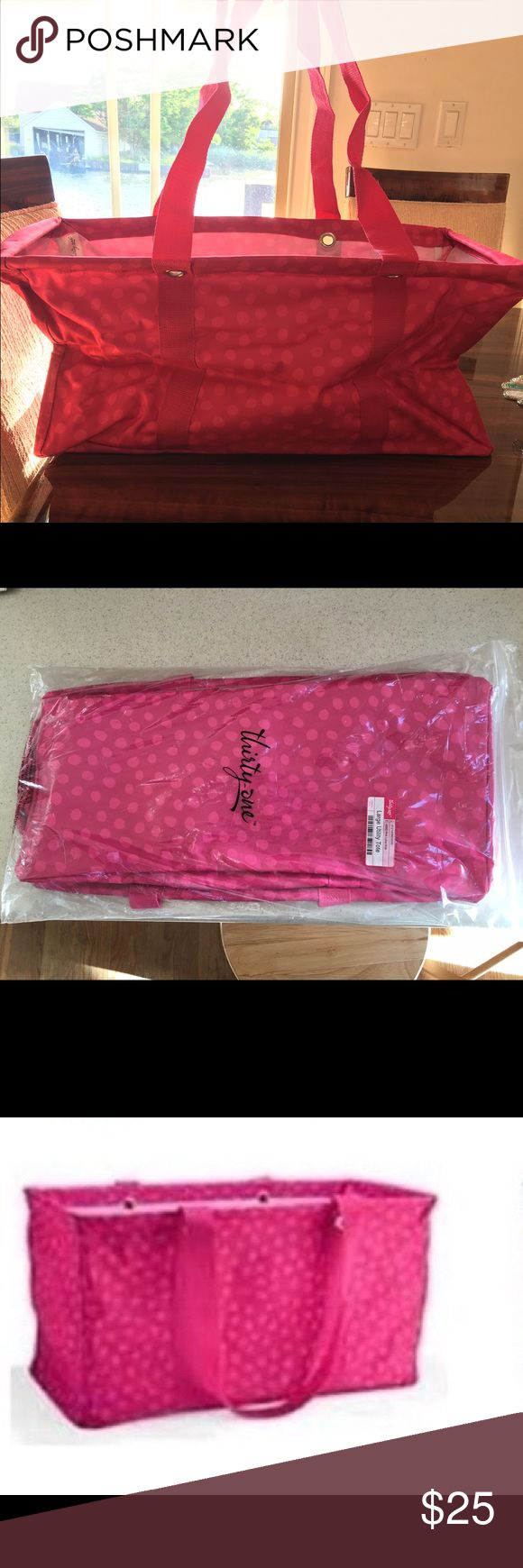 Brand new Thirty one large utility tote Brand new polka dot thirty one utility tote Thirty One Bags Totes