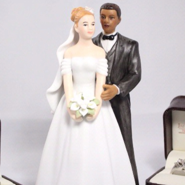 Wedding cake toppers interracial