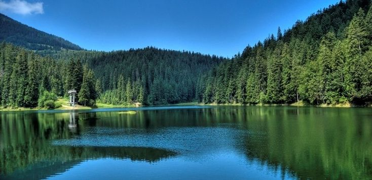 If you have a little longer to stay in the area you could take a trip outside of Lviv to the beautiful scenery of the Carpathian mountains, including Lake Synevyr.