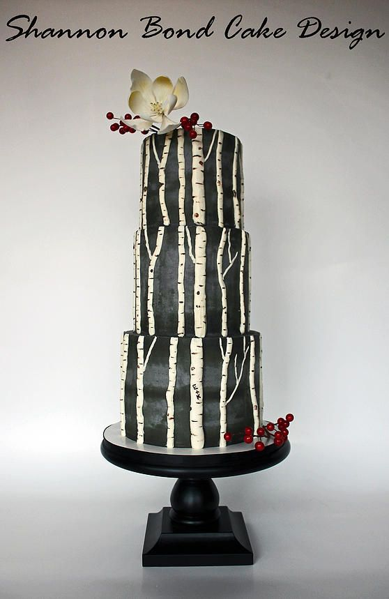 Rustic Birch Tree Wedding Cake  ~  we ❤ this! moncheribridals.com  #weddingcake