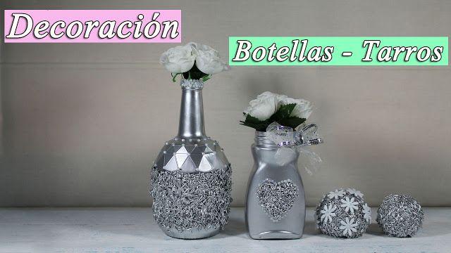 manualidades herme: Como decorar botellas de cristal