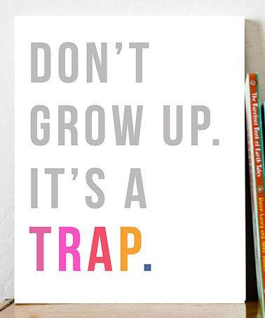 'It's a Trap' Print by Fresh Words Market #zulily #zulilyfinds