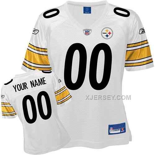 http://www.xjersey.com/pittsburgh-steelers-women-customized-white-jersey.html PITTSBURGH STEELERS WOMEN CUSTOMIZED WHITE JERSEY Only $75.00 , Free Shipping!