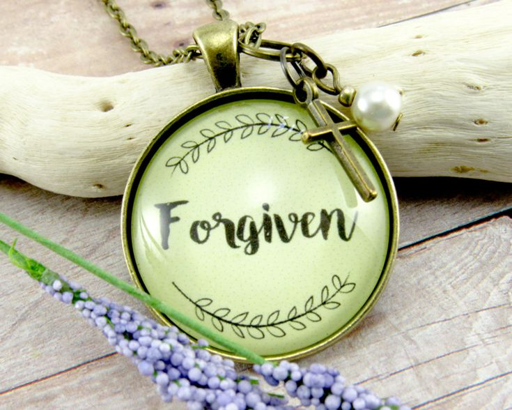 My newest creation makes a great #giftidea Forgiven Faith Pendant Survivor Necklace Because God is Good and Gives Forgiveness so Just Breath Recovery Gift Faith Pendant or Keychain (18.00 USD) from GutsyGoodness #GutsyGoodness